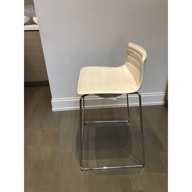 White Arper Catifa 46 Sled Low Back Counter Stools - Set of 4 For Sale - Image 8 of 10