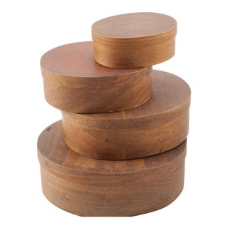Wooden Nesting Shaker Style Storage Boxes - Set of 4 For Sale