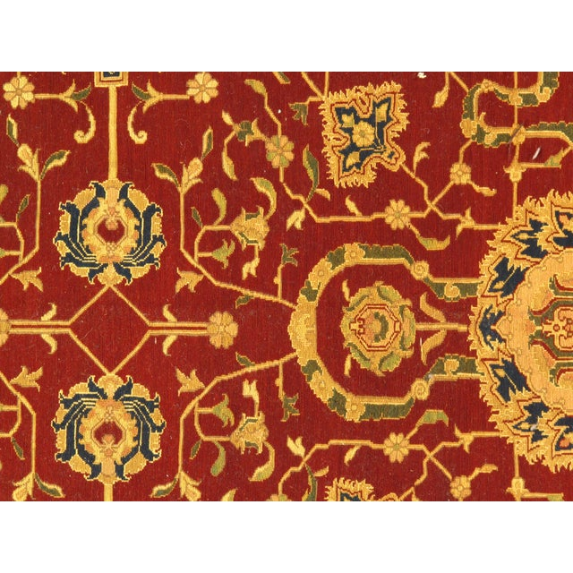 "Traditional Pasargad N Y Sumak Sultanabad Design Hand-Knotted Rug - 7'9"" X 8'11"" For Sale - Image 4 of 5"