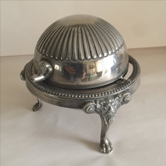 Mid-Century Silver Domed Tray - Image 2 of 8