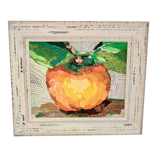 Clementine Still Life Acrylic Collage Painting For Sale