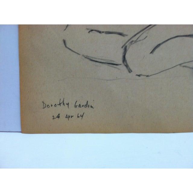 Vintage 1964 Original Drawing on Paper, Titled Dorothy