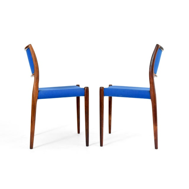 Danish Modern Niels Moller #80 Rosewood Dining Chairs - Set of 4 - Image 5 of 10