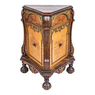 Triangular Cabinet Commode Nightstand For Sale