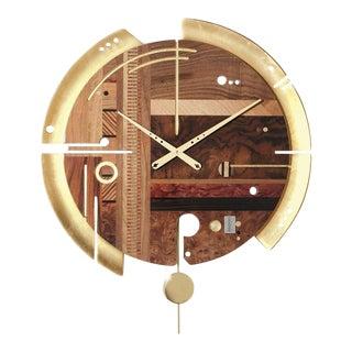 ArosioMilano Samada Gold Samada Wall Sculpture Clock For Sale