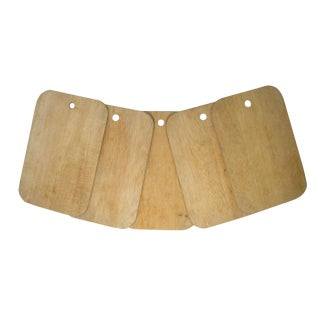 Vintage French Cheese Boards, S/5 For Sale