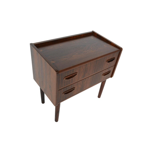Danish Modern Two Drawer Rosewood Chest - Image 4 of 9
