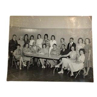 Vintage Mid-Century School Pta Group Photograph For Sale