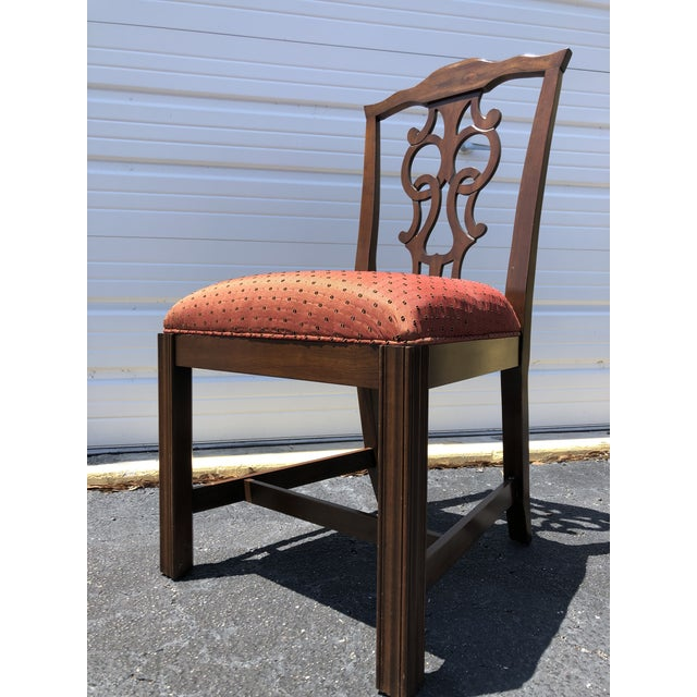 Wood Chippendale Style Dining Chairs - Set of 10 For Sale - Image 7 of 13