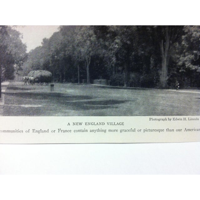 "Realism Antique National Geographic Print ""A New England Village"" 1916 For Sale - Image 3 of 4"