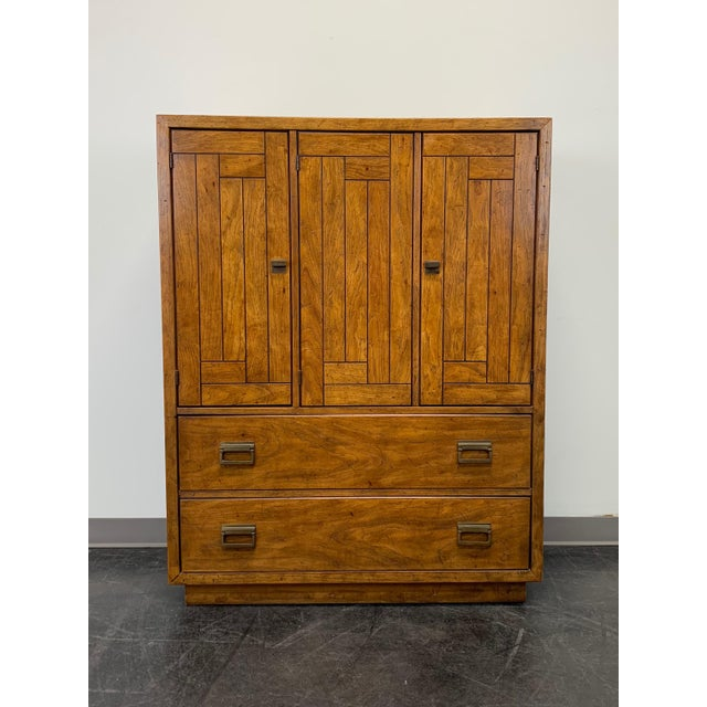 Drexel Heritage Woodbriar Pecan Campaign Style Gentleman's Chest / Armoire For Sale - Image 13 of 13