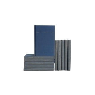 Pocket-Sized Blue Shakespeare - Set of Eleven Decorative Books For Sale