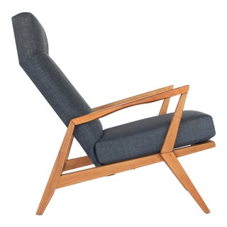 Mid Century Modern Sculptural High Back Lounge Chair For Sale