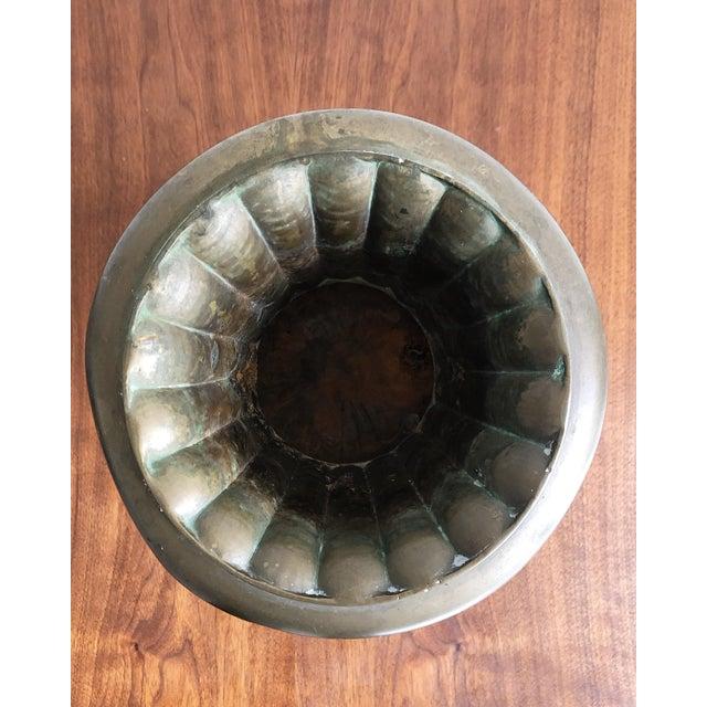 Brass Hollywood Regency Style Brass Urn Vase Planter For Sale - Image 7 of 8