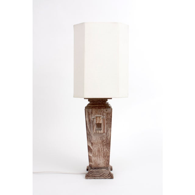 James Mont Asian Cerused Oak Lamp For Sale In Los Angeles - Image 6 of 7