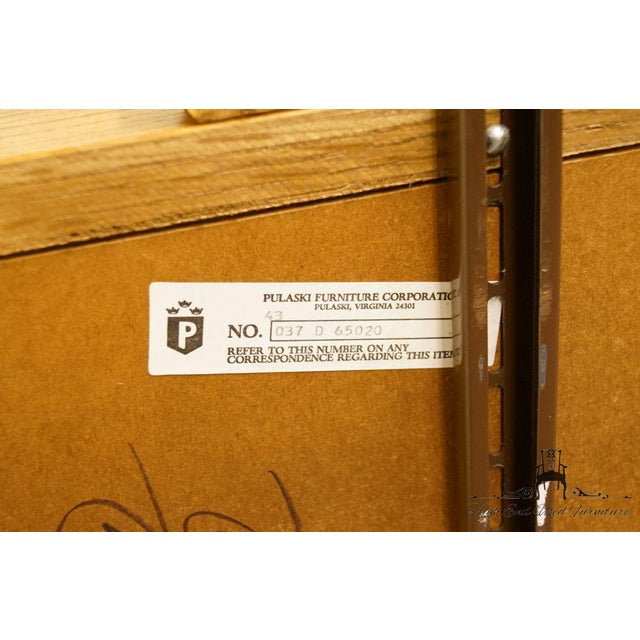 Pulaski Furniture Keepsakes Collection Oak Dresser & Wishbone Mirror For Sale - Image 11 of 13