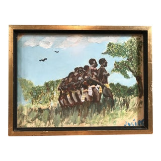 Vintage Tribal African Women Painting For Sale