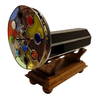 Stained Glass Kaleidoscope With Stand For Sale