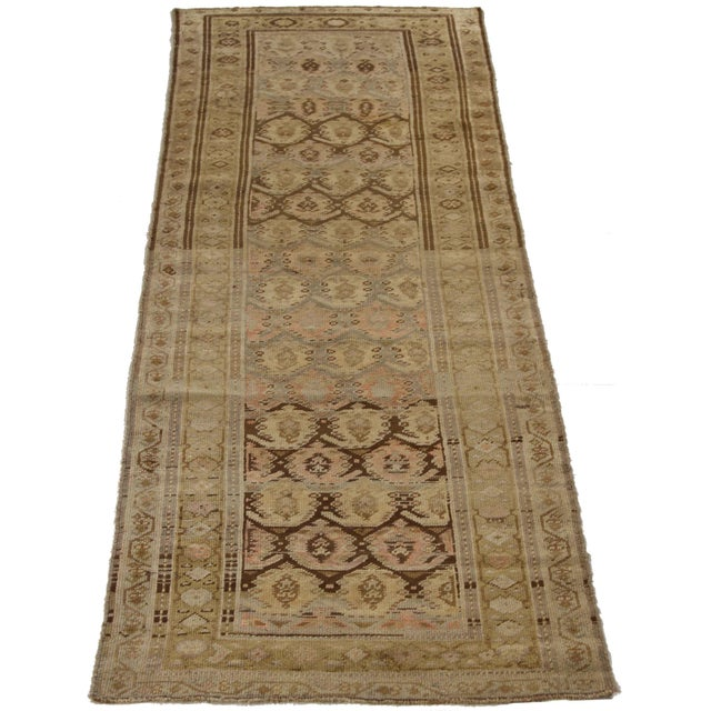 Islamic 1920s Vintage Persian Kurdish Style Rug - 3′1″ × 9′3″ For Sale - Image 3 of 11