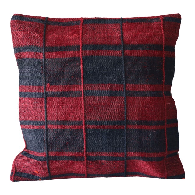 Red Turkish Kilim Pillow For Sale