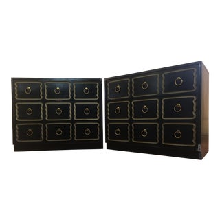 Dorothy Draper Style España Chests - A Pair