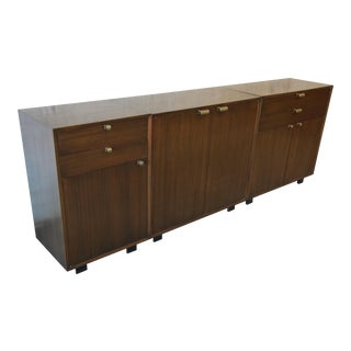George Nelson for Herman Miller Mahogany Three-Piece Modular Sideboard Credenza For Sale