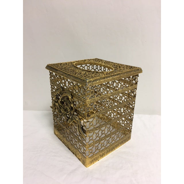 Hollywood Regency Goldtone Kleenex Box - Image 5 of 7