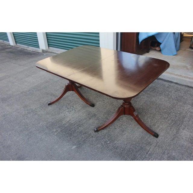 Mahogany Duncan-Phyfe Dining Table - Image 3 of 5