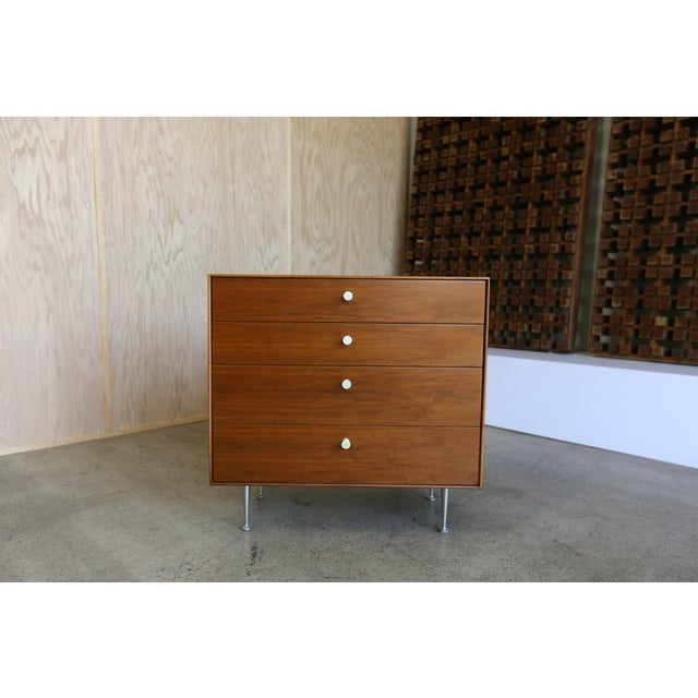 Mid-Century Modern George Nelson for Herman Miller Teak Thin Edge Chest of Drawers For Sale - Image 10 of 12