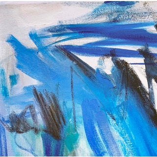 """""""Blue Horizon"""" by Trixie Pitts Abstract Oil Painting Preview"""