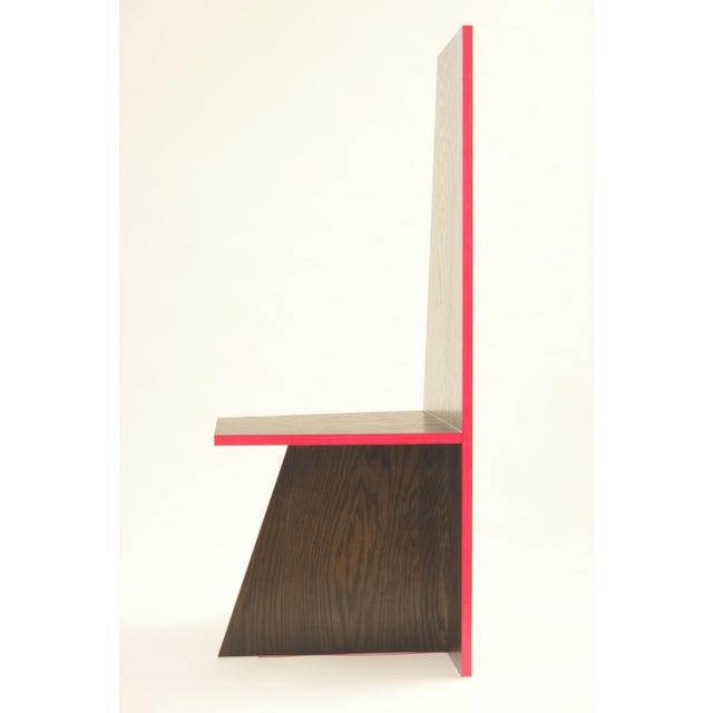 The sculptural 'Angle Chair' was designed and hand made by JT Fountain. Intended as functional sculpture, it will fit well...