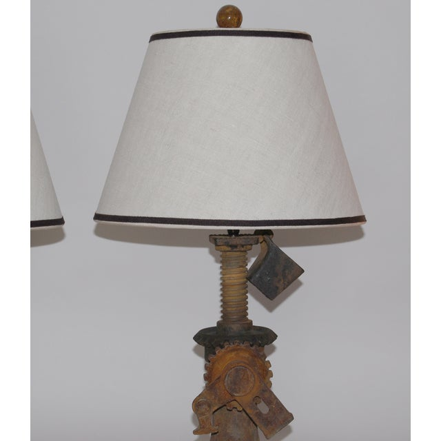 19th Century Iron Jack Lamps - Pair - Image 4 of 5