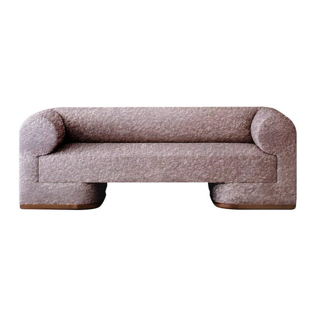 Dmitriy & Co Featured in The 2020 San Francisco Decorator Showcase — Dmitriy & Co. Alpaca Boucle Sofa For Sale - Image 4 of 4
