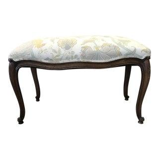 Itallian Upholstered Wood Ottoman