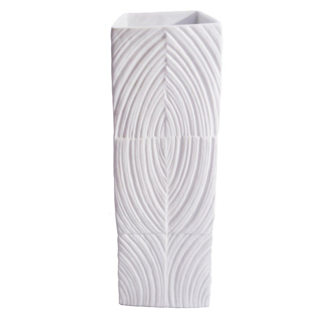 1970s Modernist Square White Bisque Vase by Martin Freyer For Sale - Image 5 of 5