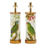 Image of Eden Parrots Table Lamps by Liz Marsh Designs - a Pair For Sale