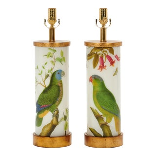 Eden Parrots Table Lamps by Liz Marsh Designs - a Pair For Sale