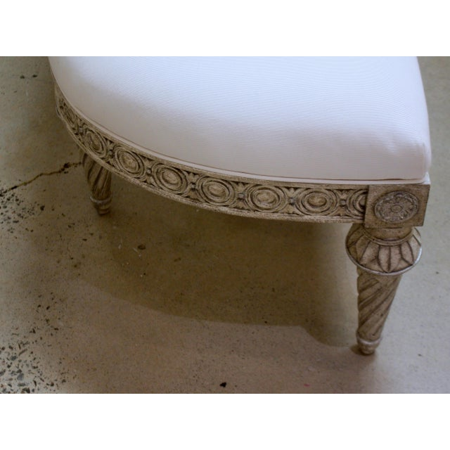 2010s Swedish Bench With Curved Ends For Sale - Image 5 of 7