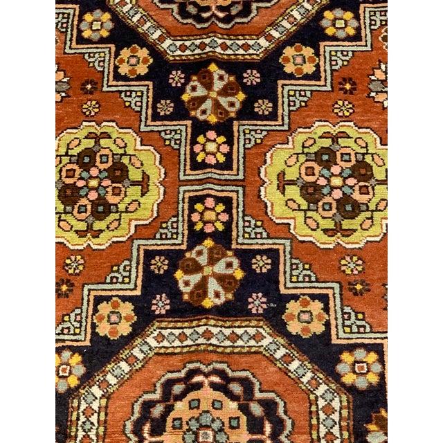 "1950's Vintage Turkish Anatolian Orange Rug-4'11x9'7"" For Sale - Image 10 of 12"