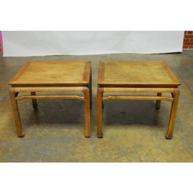 Chinese Carved Ming Style Occasional Tables - Pair - Image 4 of 8