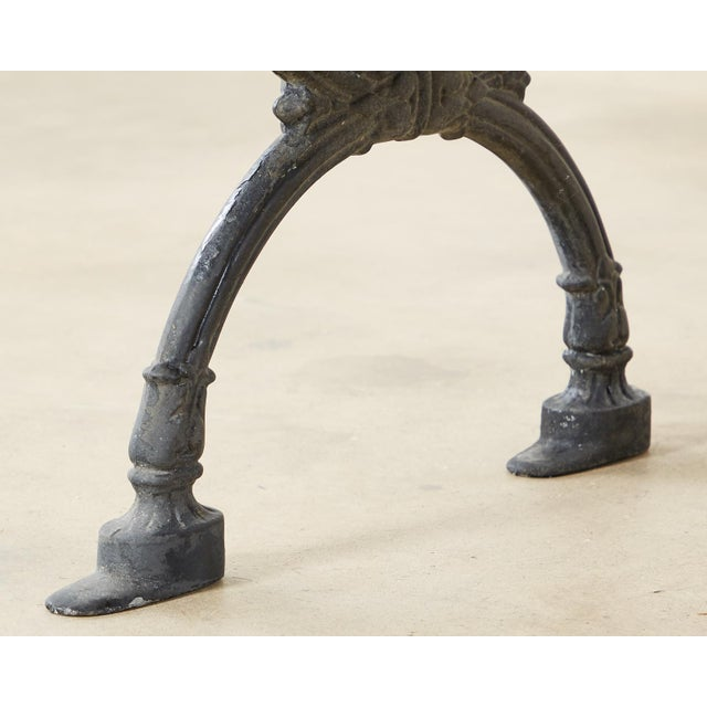 Neoclassical Style Cast Iron and Wood Park Bench For Sale - Image 9 of 13