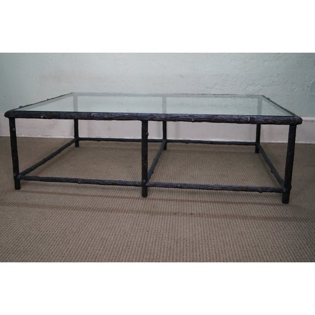 Faux Branch Coffee Table With Glass Top - Image 2 of 10