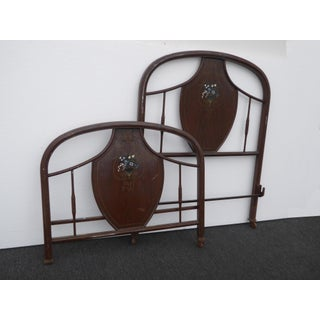 Antique French Style Twin Headboard & Foot Board As-Is Preview