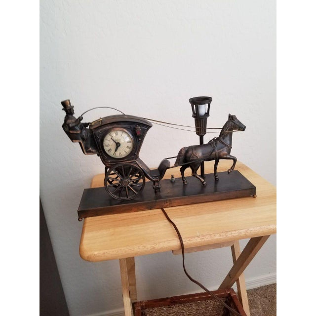 Art Deco Horse Drawn Carriage Clock For Sale - Image 3 of 3