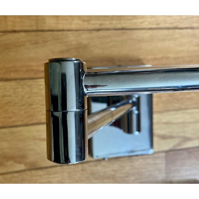 Metal Mid-Century Modern Hinson Polished Nickel Swing Arm Lamps - a Pair For Sale - Image 7 of 12