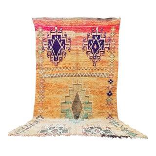 Vintage Moroccan Rug - 6′1″ × 10′9″ For Sale