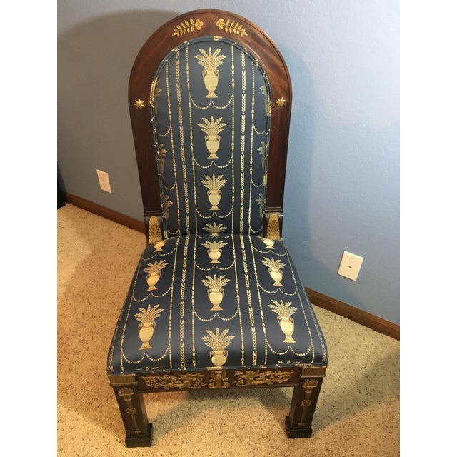 Mahogany Empire Style Mahogany Oval-Back, Gilt-Bronze Mounted Side Chair For Sale - Image 7 of 7