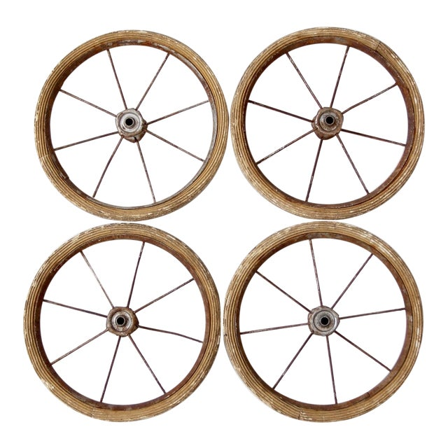 Vintage Doll Carriage Wheels - Set of 4 For Sale