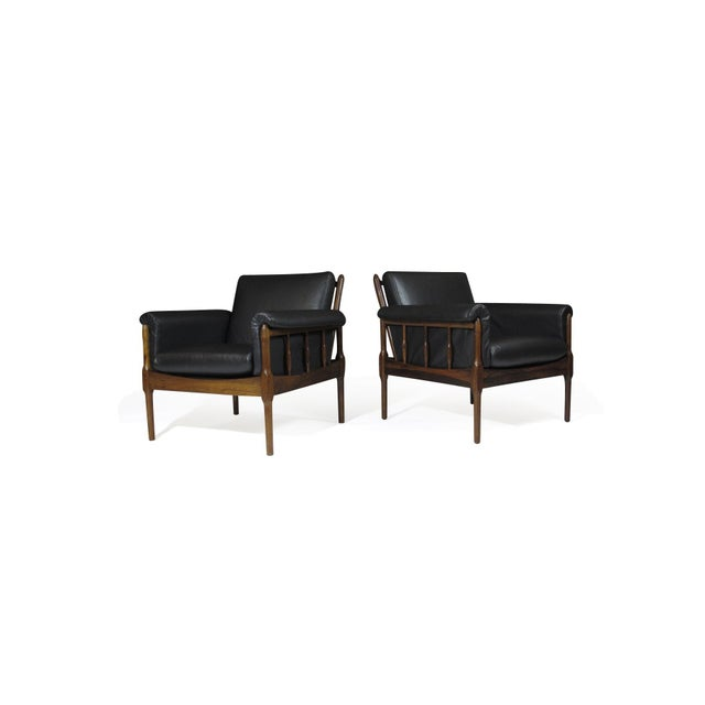 Torbjørn Afdal Rosewood Lounge Chairs - a Pair For Sale - Image 12 of 12