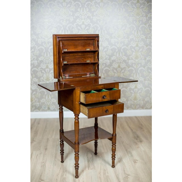 Dresser/Desk/Dressing Table Veneered with Mahogany, circa 1860 For Sale - Image 6 of 13